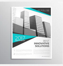 Modern white and blue brochure annual report vector