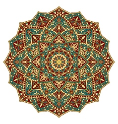 Ornate colorful mandala vector image vector image
