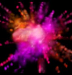 Paint powder smoky explosion vector