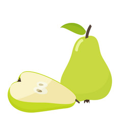 pear cartoon vector image vector image