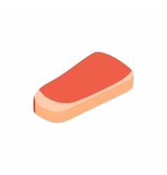 Piece of meat veal icon isometric 3d style vector
