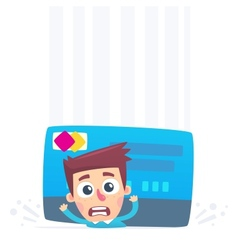 Problems with credit card vector image
