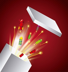 pyrotechnic fireworks vector image