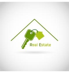 Real estate symbol vector image