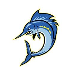 Sailfish swordfish jumping cartoon vector