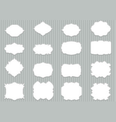 set blank retro labels scalable and editable vector image