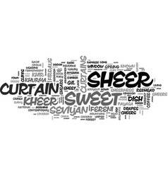 Sheer word cloud concept vector