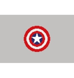 Shield with a star superhero shield comics vector image vector image