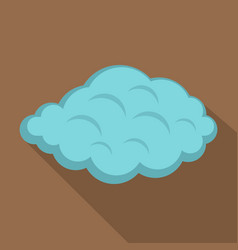 Small cloud icon flat style vector