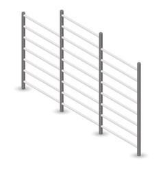 Steel swedish wall in 3d vector