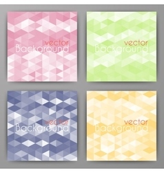 Stock Set abstract background vector image vector image