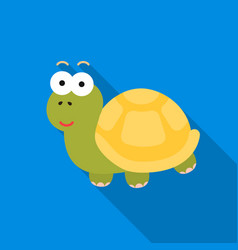 turtle flat icon for web and mobile vector image vector image