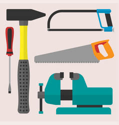 various color flat design house repair vector image