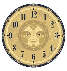 Vintage Clock Face vector image