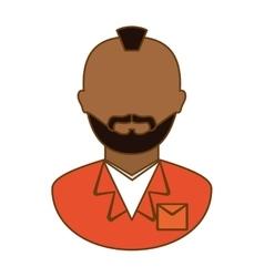 Orange arrested man icon image vector