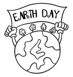 collection of earth day hand draw vector image