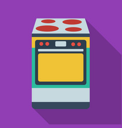 Kitchen stove icon in flate style isolated on vector