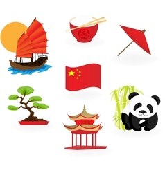 Chinese icons vector image