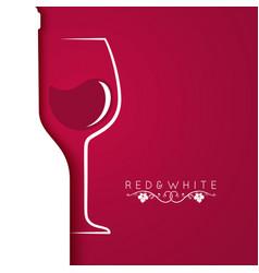 Wine glass logo menu design background vector