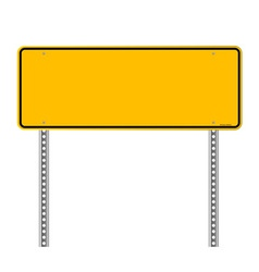 Blank warning sign vector