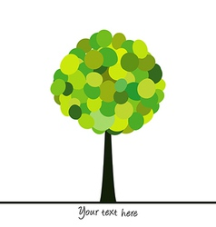 Abstract tree made of green circles vector