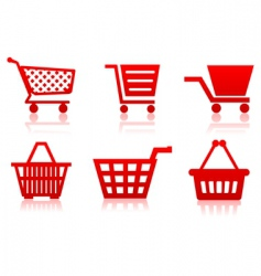 icon of a food basket vector image