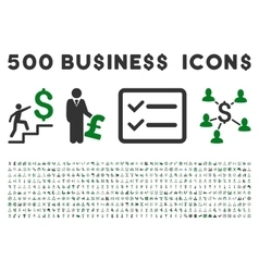 500 flat business icons vector