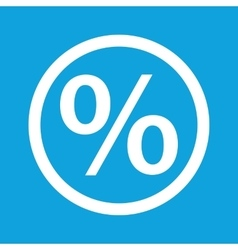Percent sign icon vector