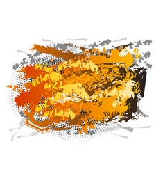 Abstract center background in orange color vector
