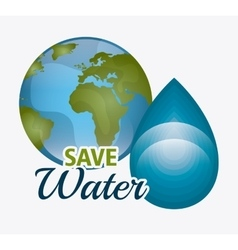 Save water ecology vector image