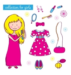 Collection for girls vector