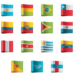 Flags - south america vector