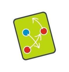 Tactic strategy on a digital tablet flat icon vector image
