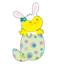 Easter bunny chick vector