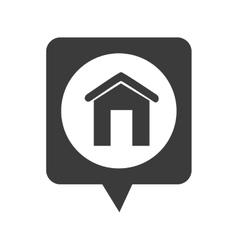 Real estate building icon vector