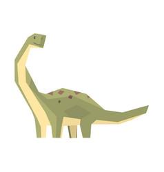 Cartoon hypsilophodon dinosaur character jurassic vector