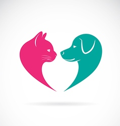 Cat and dog 1 vector image vector image