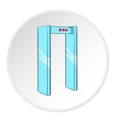 Check on metal detector icon cartoon style vector