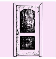 closed door vector image vector image