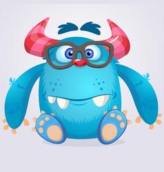 cute cartoon monster gremlin vector image