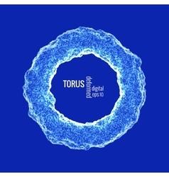deformed torus vector image vector image