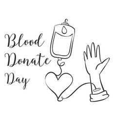 Doodle blood donor day style collection vector