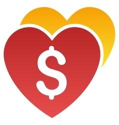 Favorite hearts price gradient icon vector