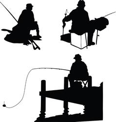 Fishermens vector image