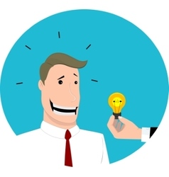 Give an idea to businessman flat design vector image vector image