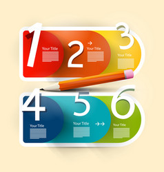 Infographic design paper infographics layout vector