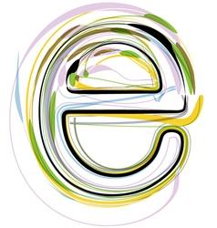 Organic font letter e vector