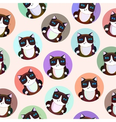 Pattern of the siamese cats vector
