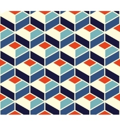 Seamless geometric tiling pattern in blue vector