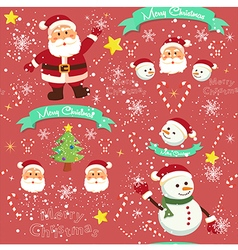 Seamless Pattern Christmas Red vector image